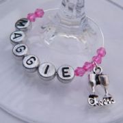 Cheers Personalised Wine Glass Charm